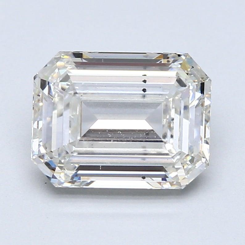 3.00 Carat G-VS2 Ideal Emerald Diamond