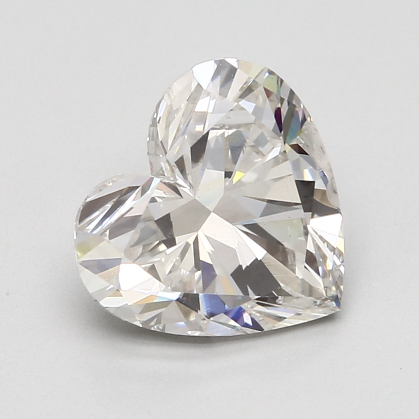 3.12 Carat G-SI2 Ideal Heart Diamond