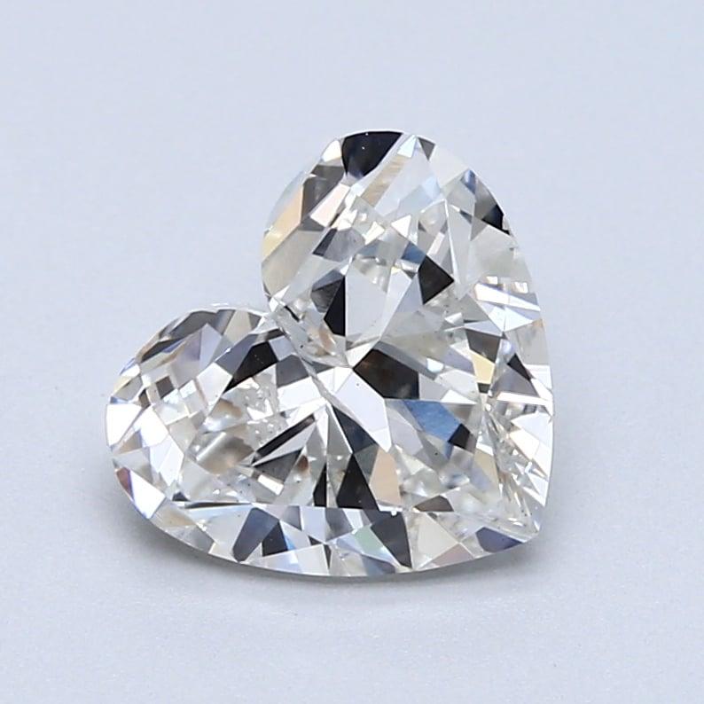 2.08 Carat F-SI2 Ideal Heart Diamond