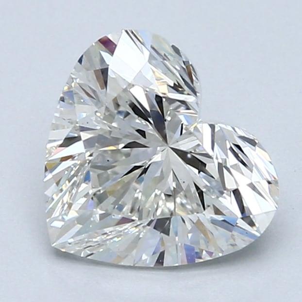 2.08 Carat G-VS2 Ideal Heart Diamond