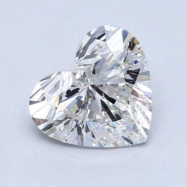 2.02 Carat F-VS1 Ideal Heart Diamond