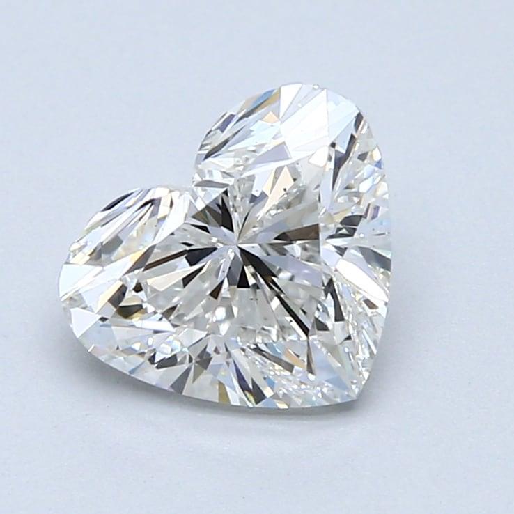 2.02 Carat F-VS2 Ideal Heart Diamond