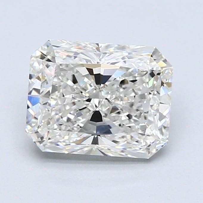 2.03 Carat H-SI1 Ideal Radiant Diamond