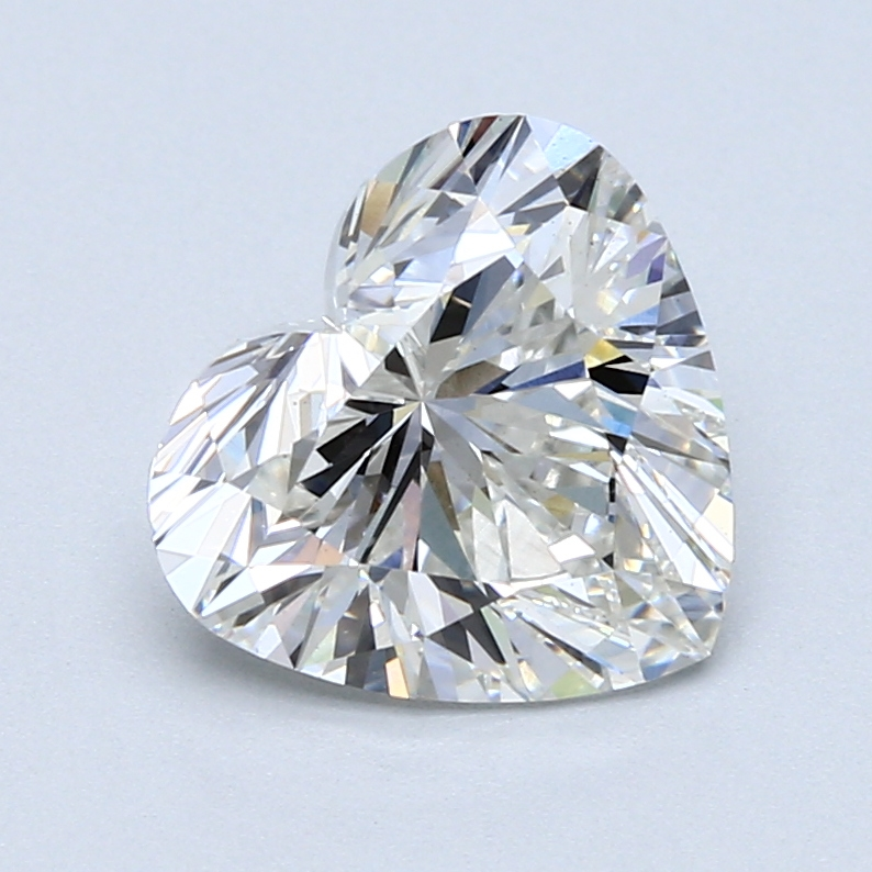 2.63 Carat G-VS2 Ideal Heart Diamond