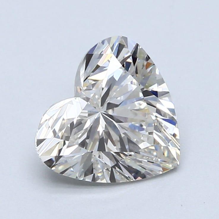 2.02 Carat G-VS1 Ideal Heart Diamond