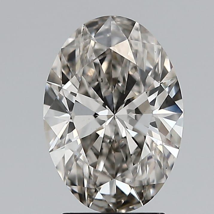 2.14 Carat H-VS1 Ideal Oval Diamond