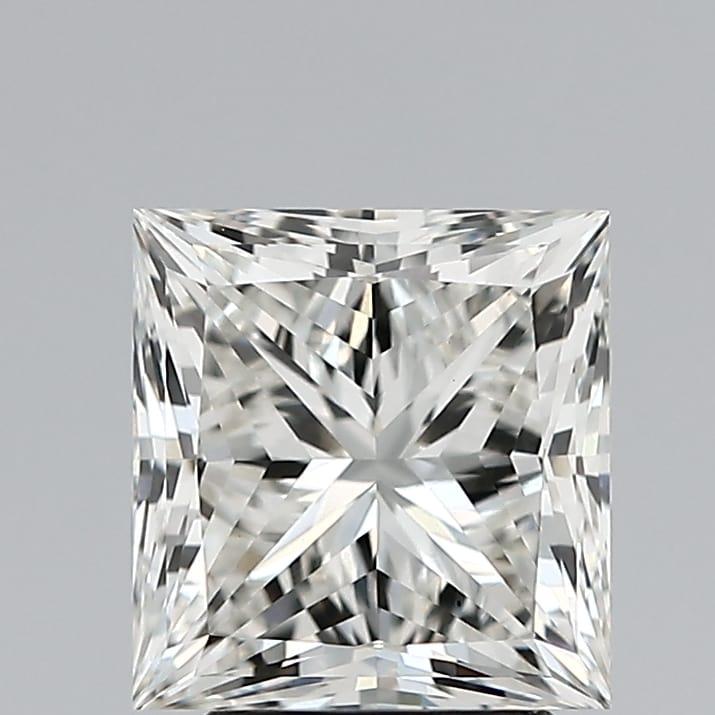3.02 Carat H-VS1 Ideal Princess Diamond