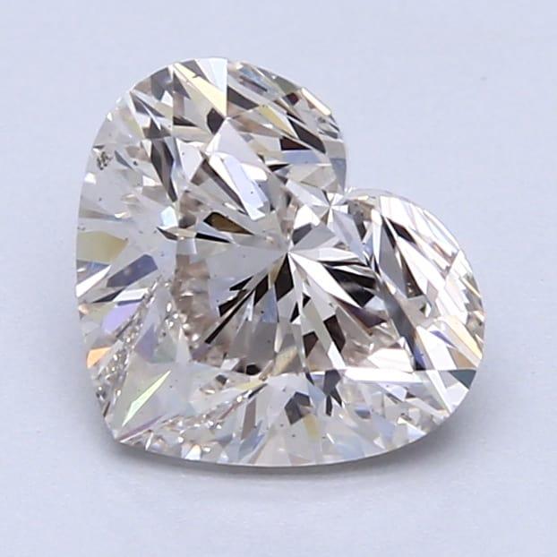2.01 Carat I-SI1 Ideal Heart Diamond