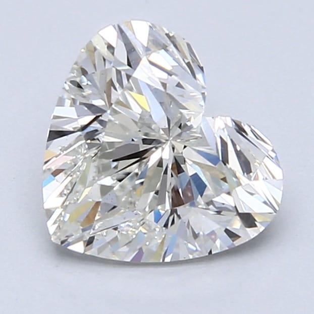 2.05 Carat G-VS1 Ideal Heart Diamond