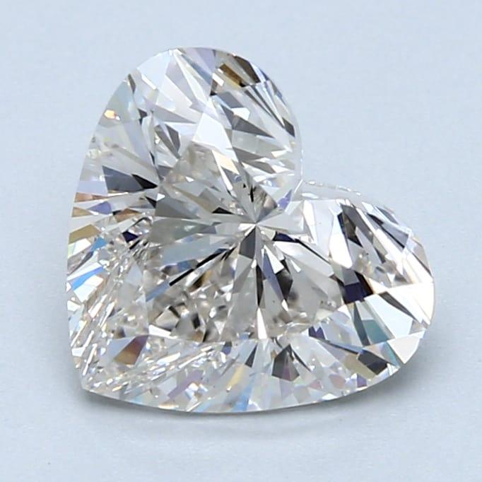 2.52 Carat H-VS1 Ideal Heart Diamond