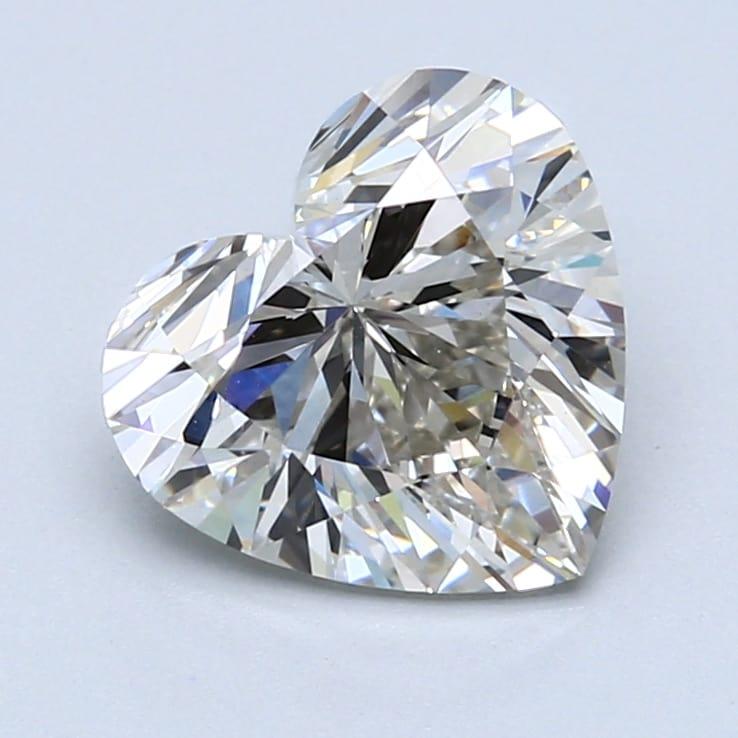 2.53 Carat H-VS1 Ideal Heart Diamond