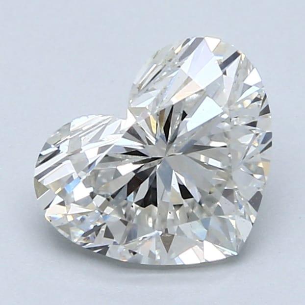 2.01 Carat H-VS1 Ideal Heart Diamond